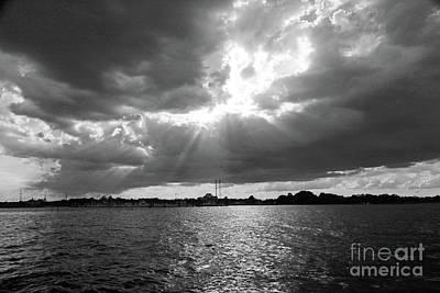 Photograph - Shining Through In Bw by Mary Haber