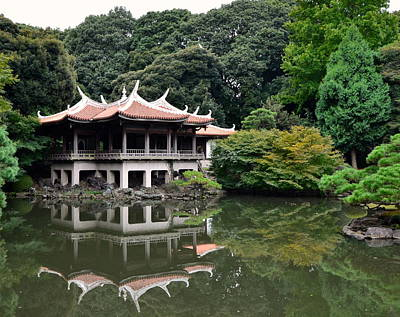 Japan House Photograph - Shinjuku-gyoen Tea House by Corinne Rhode