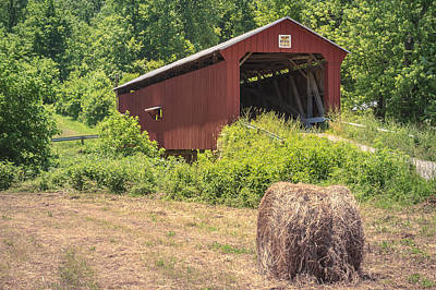Music Royalty-Free and Rights-Managed Images - Shinn Covered Bridge by Jack R Perry