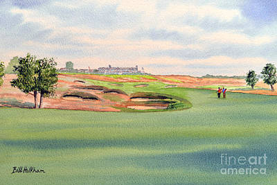 Sports Paintings - Shinnecock Hills Golf Course by Bill Holkham