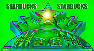 Mermaid Artwork Digital Art - Shinning Starbucks by David Lee Thompson