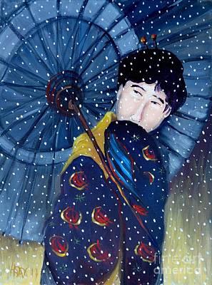 Bfa Painting - Shinsui Night Snow by Vanessa Hadady BFA MA