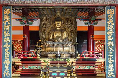 Photograph - Buddah Statue In Altar At Kiyomizudera by Karen Jorstad