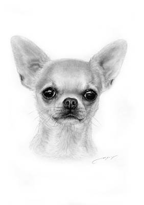 Chihuahua Painting - Shiny Eyes by Danguole Serstinskaja