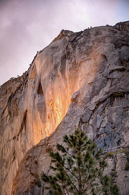 Photograph - Shiny Horsetail Falls by Connie Cooper-Edwards