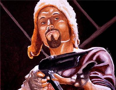 Adam Baldwin Painting - Shiny Lets Be Bad Guys by Al  Molina