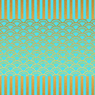 Digital Art - Shiny Patterns 1 by Bonnie Bruno