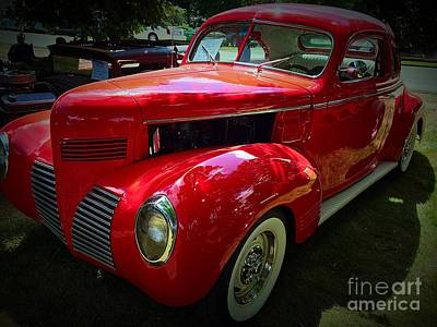 Photograph - Shiny Red Machine by Anne Sands