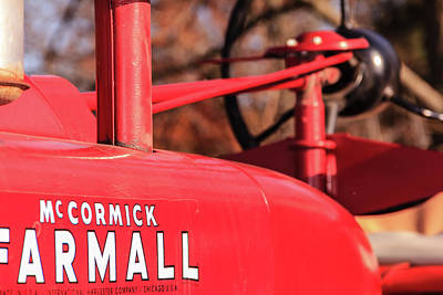 Photograph - Shiny Red Tractor by Joni Eskridge