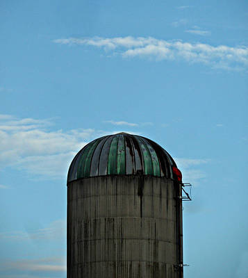 Photograph - Shiny Single Silo by Cyryn Fyrcyd