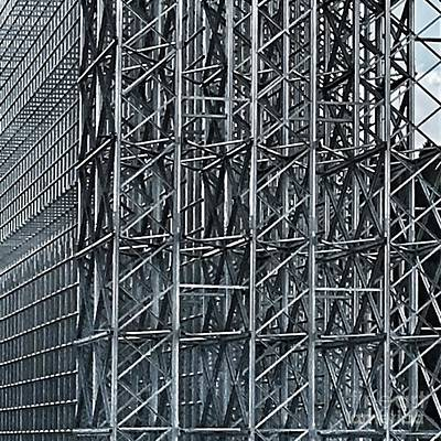 Photograph - Shiny Steel Construction by Eva-Maria Di Bella