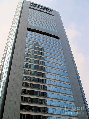 Photograph - Shiodome Media Tower Tokyo by Yvonne Johnstone