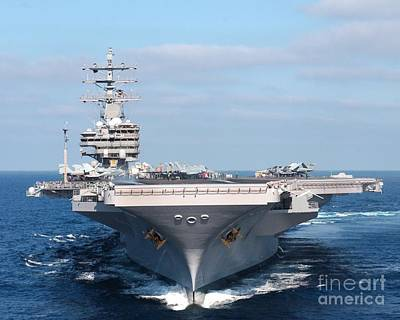 Aircraft Carrier Painting - Ship-aircraft-carrier-us-navy by Celestial Images