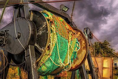 Photograph - Ship Art Nets by Bill Posner