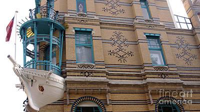 Photograph - Ship As A Facade Decoration In Antwerp Belgium by Eva-Maria Di Bella