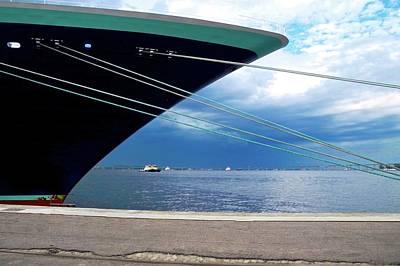 Photograph - Ship At Anchor In Rio by Kirsten Giving