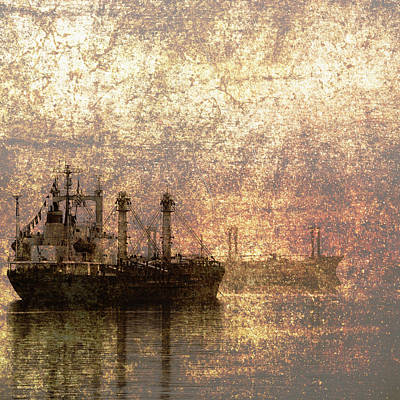 Ship At Anchor Art Print