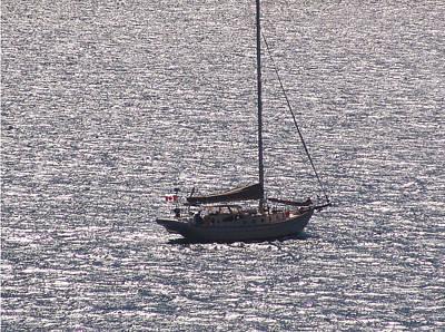 Photograph - Ship At Sea by Kevin Callahan
