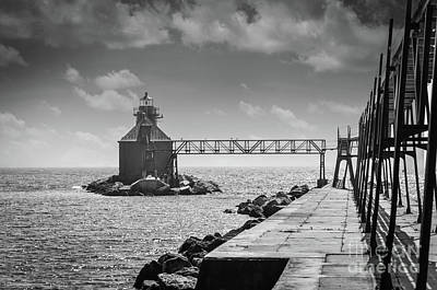 Photograph - Ship Canal North Pierhead Lighthouse II by Deborah Klubertanz