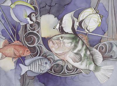 Ship Elements Art Print by Liduine Bekman