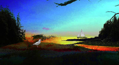 Mixed Media - Ship Harbor-acadia National Park by Mike Breau