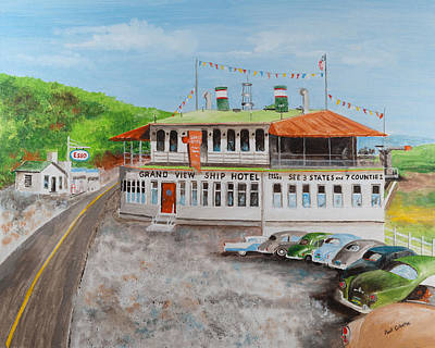 Painting - Ship Hotel Lincoln Highway Pa by Paul Cubeta