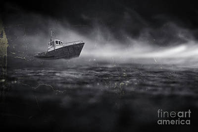 Photograph - Ship In A Storm by Edward Fielding