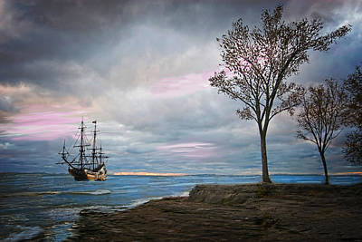Ship In A Storm Original by Mary Timman