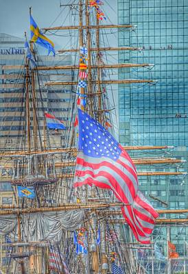 Ship In Baltimore Harbor Art Print by Marianna Mills