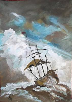 Painting - Ship In Need by Carole Robins
