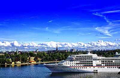 Sweden Photograph - Ship In Stockholm by Ramon Martinez
