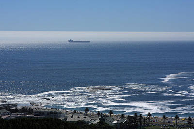 Photograph - Ship In The Bay, Cape Town by Aidan Moran