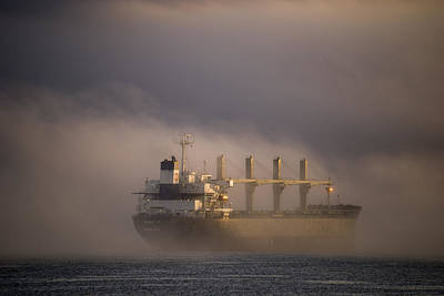 Photograph - Ship In The Fog by Robert Potts
