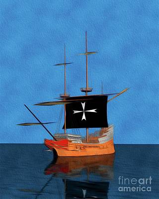 Abstract Landscape Royalty-Free and Rights-Managed Images - Ship of the Knights of Malta by Pierre Blanchard