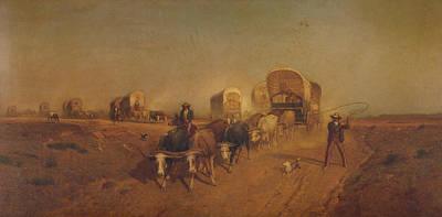 Ship Of The Plains Art Print by Samuel Colman