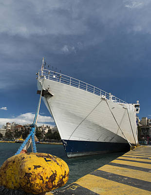 Photograph - Ship On Dock by Radoslav Nedelchev
