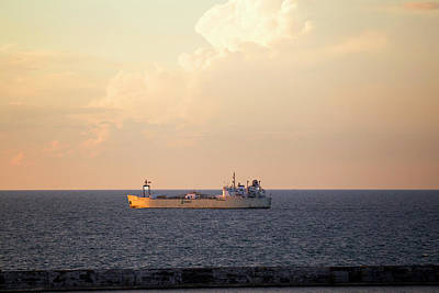 Photograph - Ship On Lake Ontario by David Stasiak