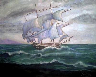 Painting - Ship Out To Sea by Manuel Sanchez