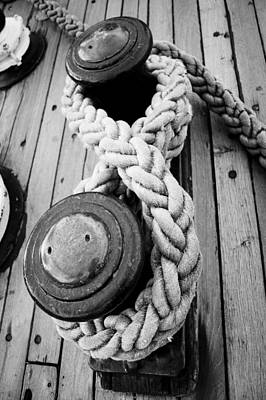 Photograph - Ship Ropes by Silvia Bruno