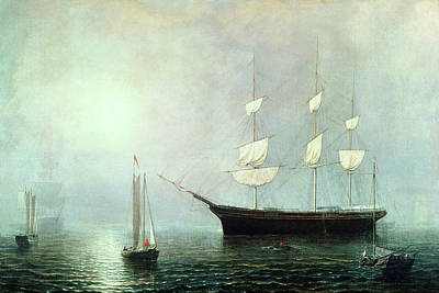 Painting - Ship Starlight By Fitz Henry Lane 1860 by Fitz Henry Lane