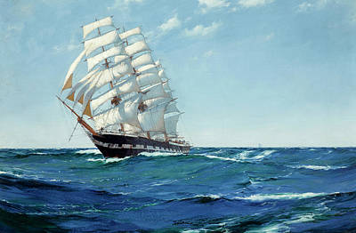 Sphere Painting - Ship Waimate by Montague Dawson