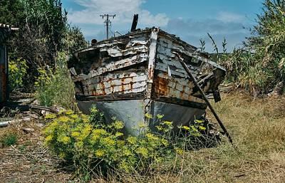 Ship Wrecked, Los Osos Art Print by John Pierpont