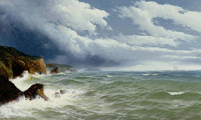 Shipping Painting - Shipping In Open Seas by David James