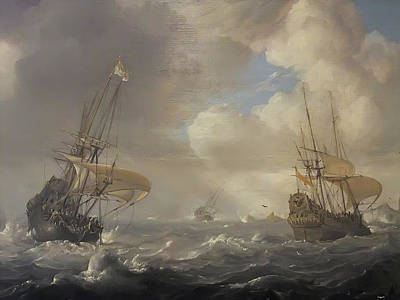 Stormy Weather Painting - Shipping In Stormy Seas by MotionAge Designs
