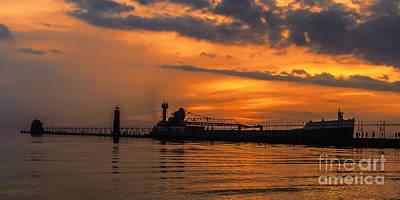Photograph - Shipping On Lake Michigan by Nick Zelinsky
