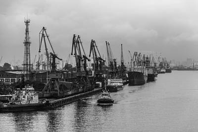 Photograph - Shipping On The River Neva by Clare Bambers