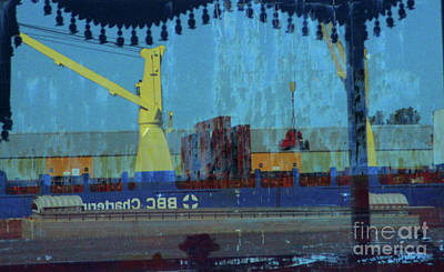 Photograph - Shipping Reflections by Randall Weidner
