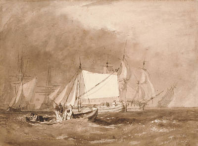 Painting - Shipping Scene With Fishermen by Joseph Mallord William Turner