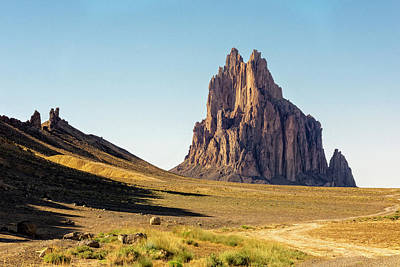 San Juan Mountains Photograph - Shiprock 3 - North West New Mexico by Brian Harig