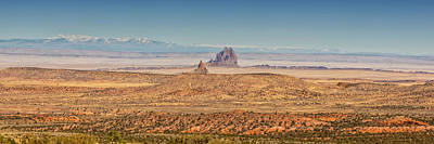 Photograph - Shiprock From Arizona Panorama 2 - New Mexico by Brian Harig